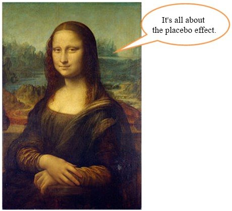 Mona Lisa: it's all about the placebo effect