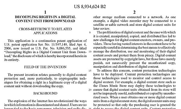 apple p2p patent