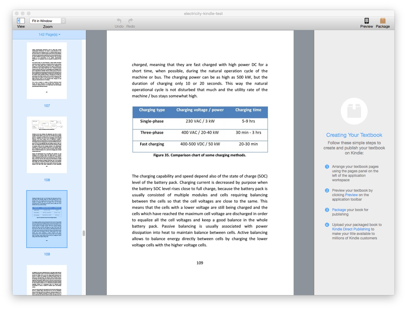 Kindle Textbook Creator screen shot  on Mac