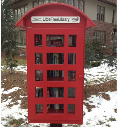 little free library, Britain phone booth