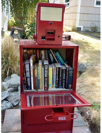 little free library newspaperbox