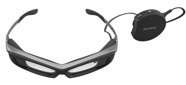sony smarteyeglasses and control unit