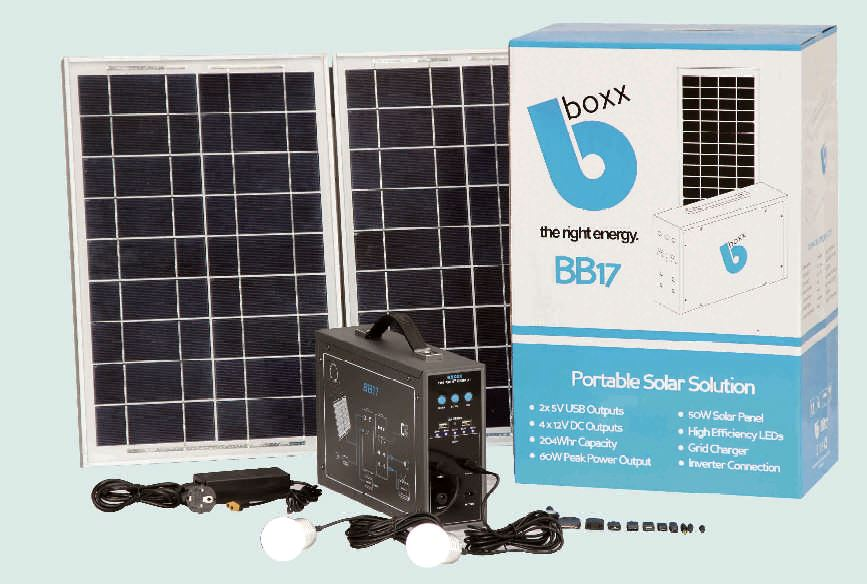 bboxx bb17 solar power product package