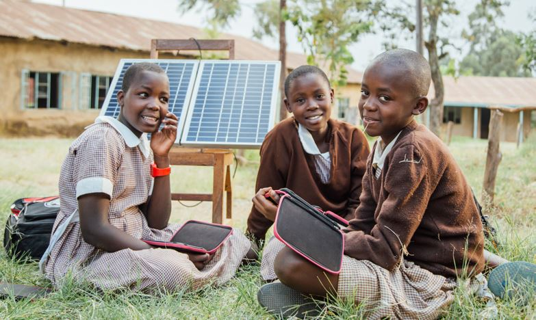 worldreader solar panels, charging station