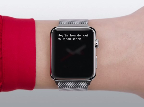 apple watch , Siri ask directions