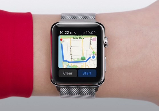 apple watch, map