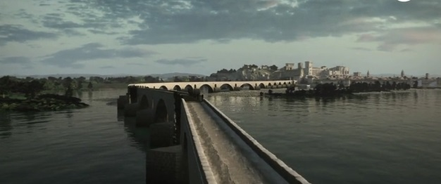 avignon bridge 3D model, middle ages