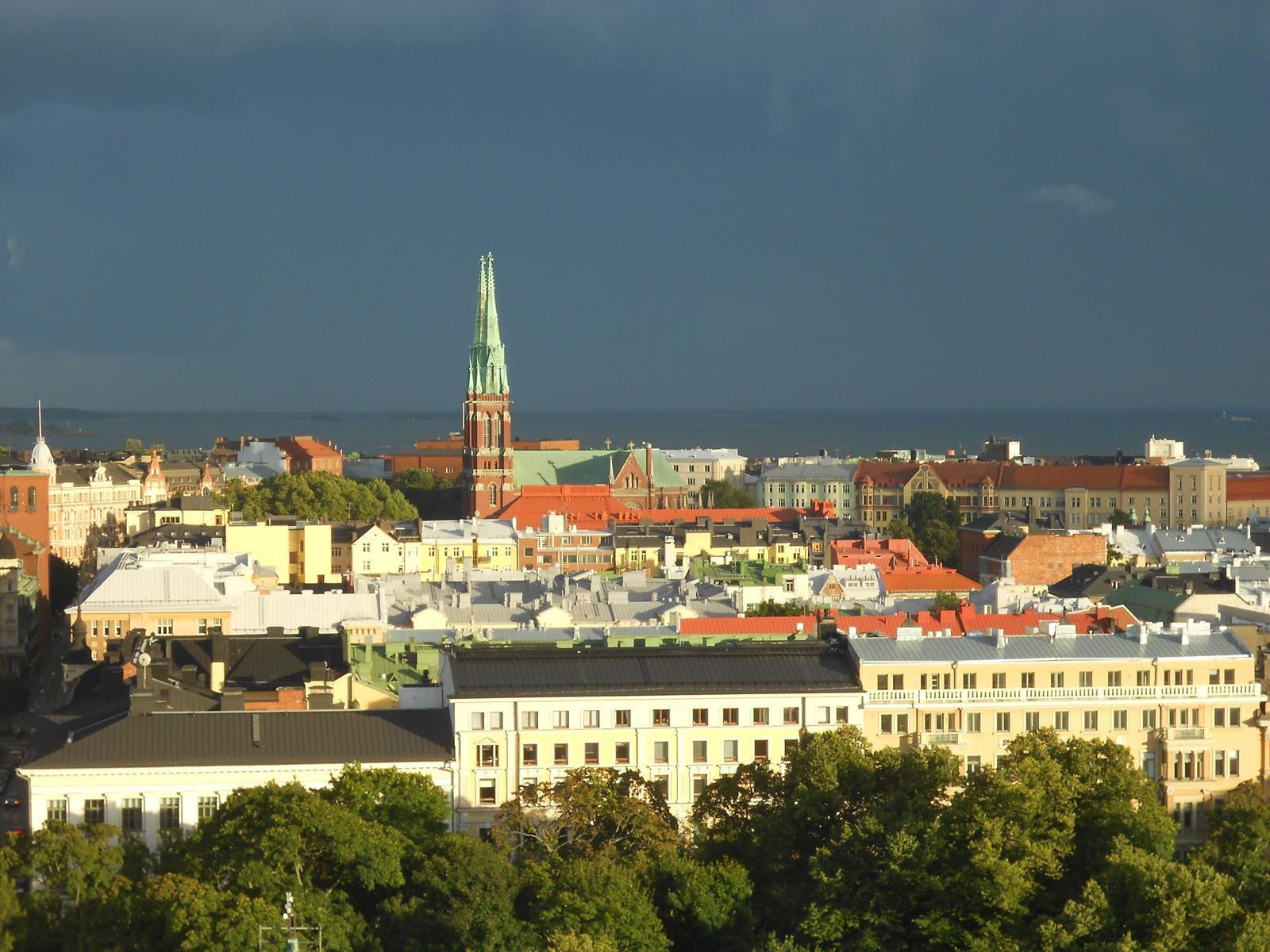 view over the roofs of Helsinki, FInland