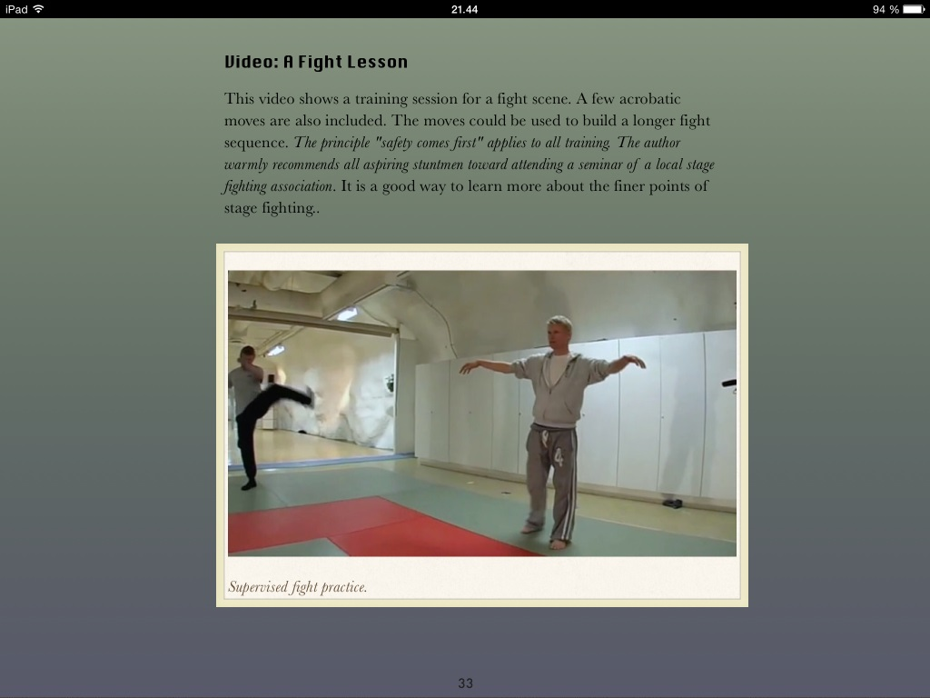 stunts, scenes and safety - ipad screen shot