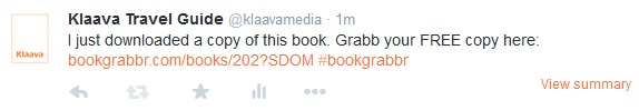 bookgrabbr tweet