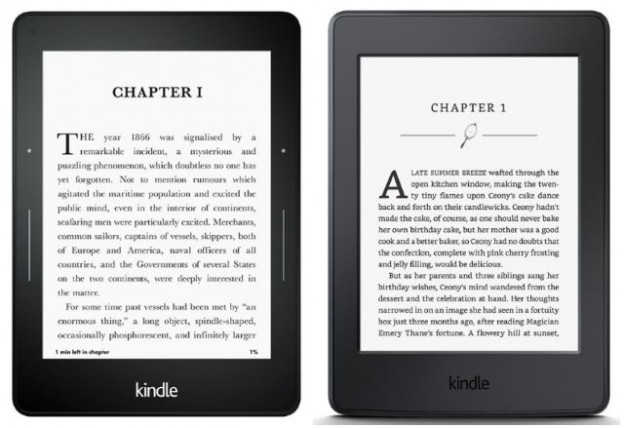 amazon kindle voyage and paperwhite