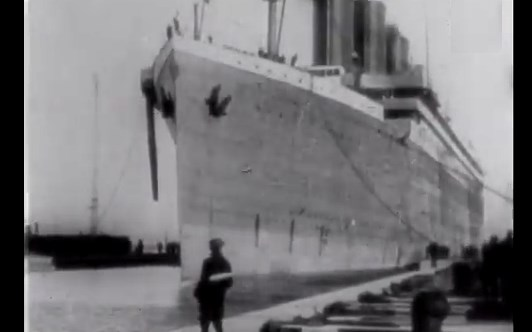 british movietone newsreel archive, titanic