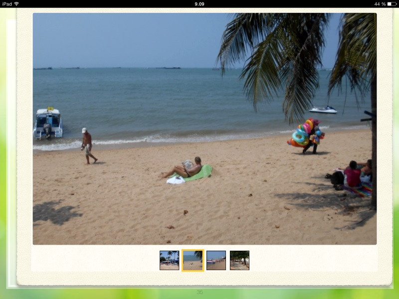 pattaya beach from travel guidebook