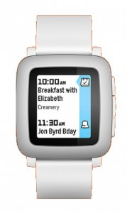 pebble time, white