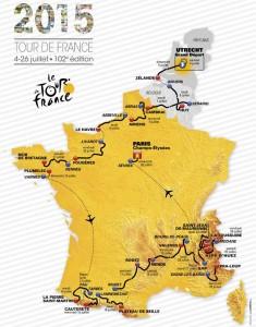 tour de france, map route 2015