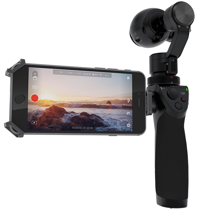 dji osmo camera with smartphone viewfinder