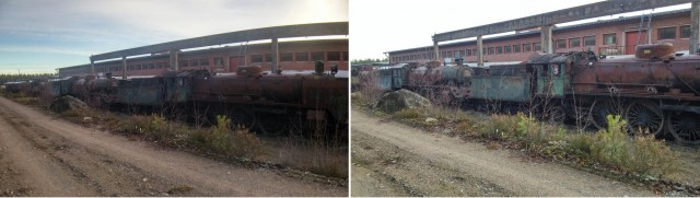 old trains, macro lens comparison