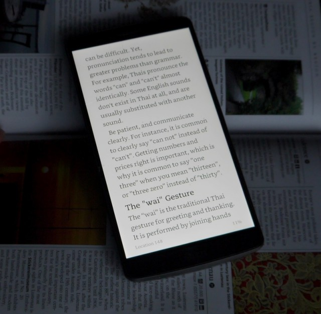 lg g3 smartphone, kindle ebook reading app