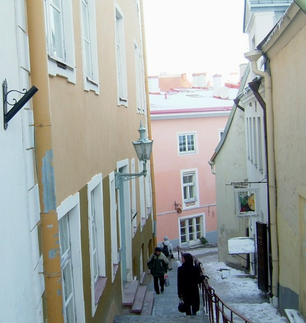 Estonia is a flat country, but there is a hill in Tallinn where the old town is located
