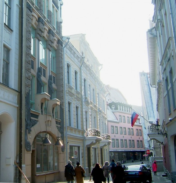 A street in Tallinn lined by beautiful houses