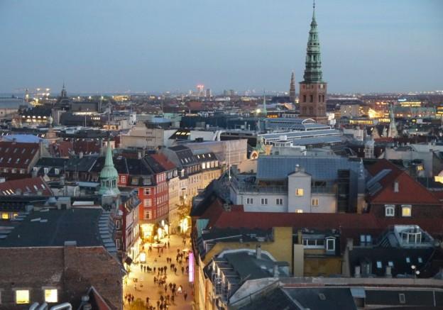 city view from runde taarn, copenhagen