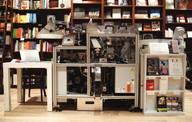 shakespeare et co, espresso book machine