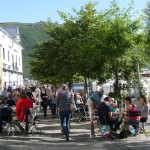 tromsö, cafes at the town center