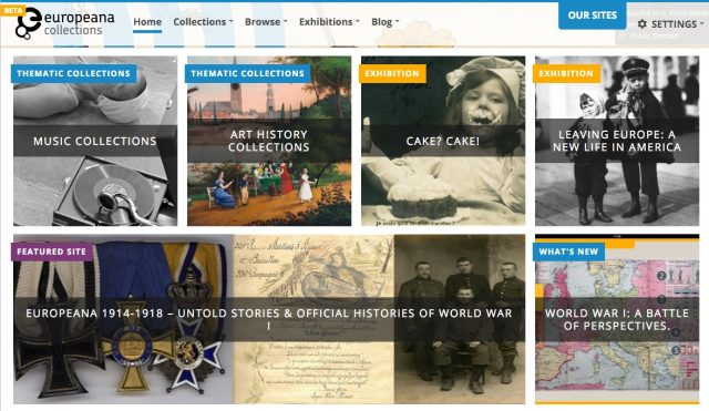 europeana homepage