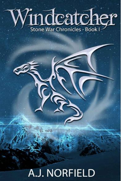 book cover design, windcatcher