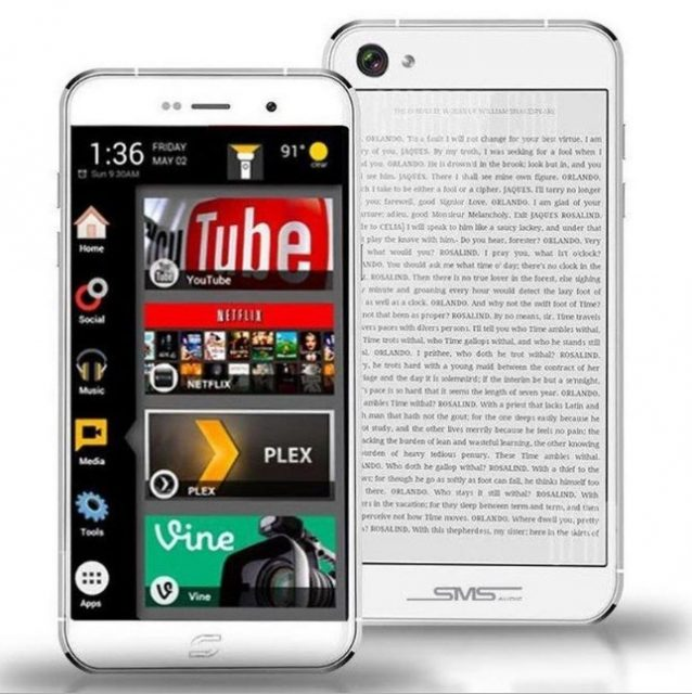 siam 7x, dual screen smartphone