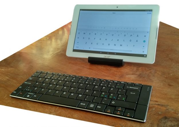 acer tablet with BLuetooth keyboard