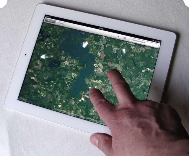 navigation app on Apple iPad