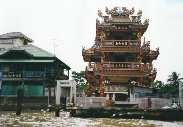 bangkok, river boat tour, temple