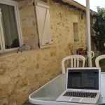 an office for a digital nomad in Bordeaux, France