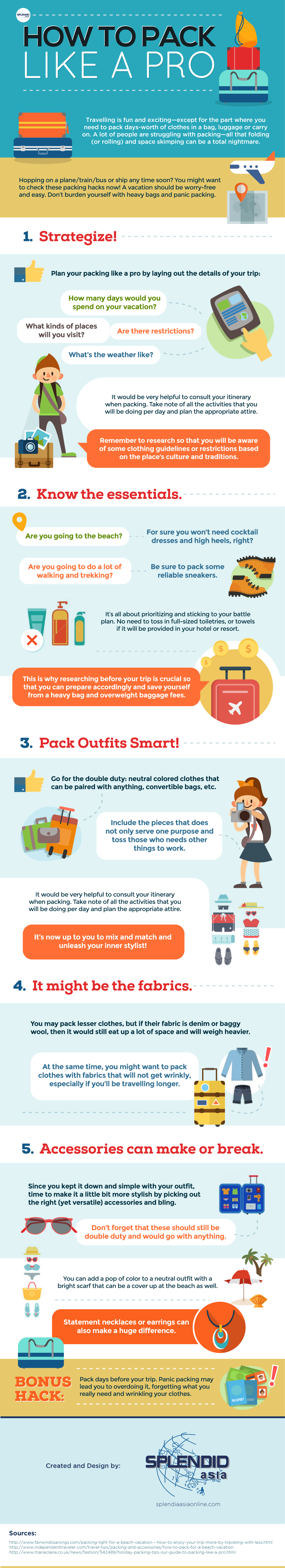 pack light like a pro, infographic