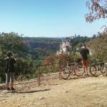 Cycling in Central France: the castles and villages of the Dordogne region.