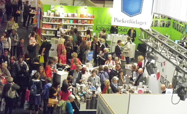 book show, gothenburg, sweden.