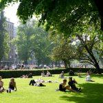 Esplanade Park in summer. Helsinki, Finland.
