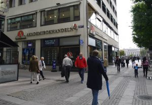 Akademibokhandeln bookstore in gothenburg, sweden west coast