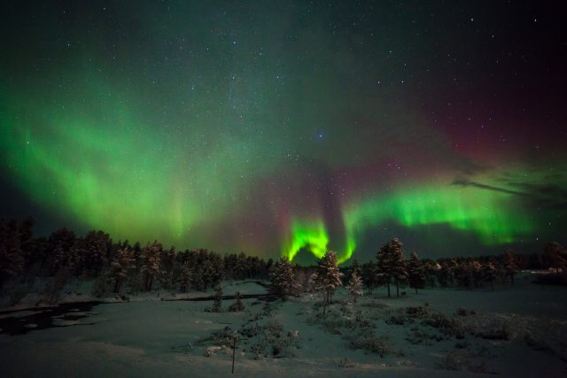 The Northern Lights in Kakslauttanen  (Photo: Kakslauttanen Arctic Resort).