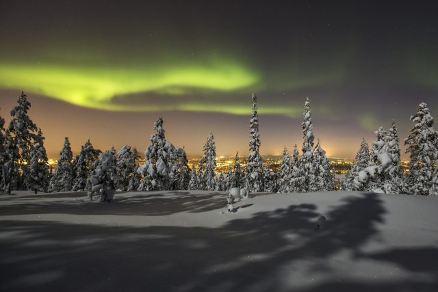 The Northern Lights in Rovaniemi (Photo Copyright Visit Rovaniemi/Rovaniemi Tourism & Marketing Ltd).