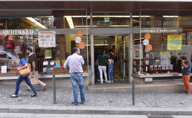 North Portugal, city of Porto, bookstore queue