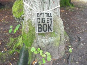 bookcrossing, slottsskogen, gothenburg, sweden, europe