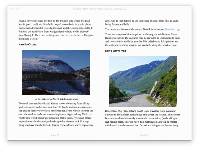 Scenic drives in Lapland (north Finland, Norway, Sweden)