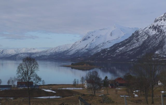 village in Lofoten, Norway (from Lapland travel guidebook)