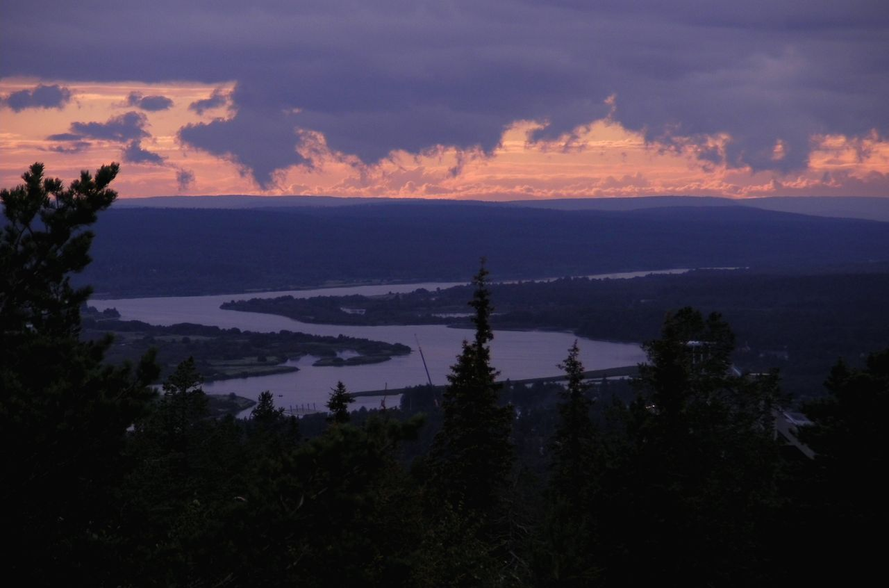 Sunset at Ounasvaara fell, Rovaniemi from Lapland travel guidebook