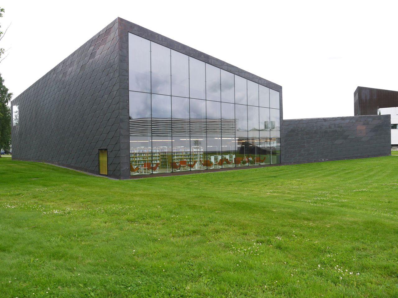 modern library  architecture in Seinäjoki, Finland, North Europe