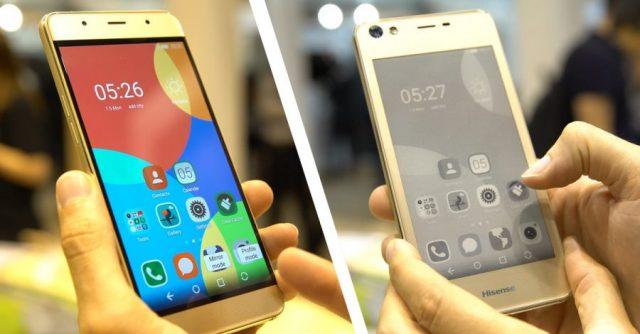 Hisense A2 smartphone ereader. Photo: maistecnologia.com