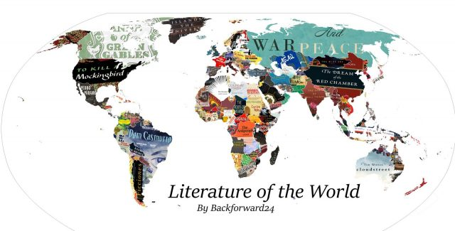 Literature world map by backforward24