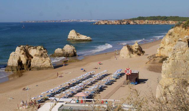 Portimaro, Praia da Rocha beach, Algarve, Portugal.